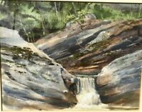 Listed Artist Charles Gross  Original Painting Mid Century Kent Falls State Park