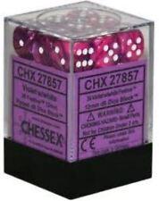 Chessex Dice (36) Block Sets 12mm D6 Festive Violet w/ White 36 Die CHX 27857