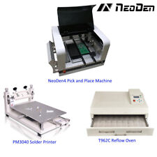 SMD PCB assembly line for homemade NeoDen4 with solder printer and oven-EW