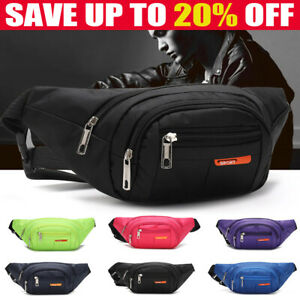 Unisex Large Waterproof Waist Bum Bags Fanny Pack Belt Pouch Wallet Travel Bag