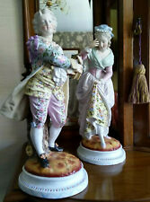 Victorian Porcelain French china large pair Figurines outstanding!!
