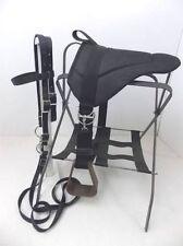 MINIATURE HORSE / SM PONY BAREBACK SADDLE PAD SET - BLACK DENIM
