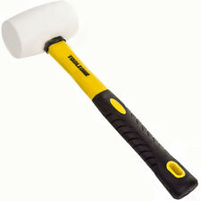 16oz High Quality White Rubber Hammer Mallet w Fibre Handle Camping Racking Tool