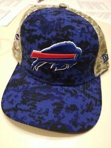 Buffalo Bills New Era FITTED MEDIUM TO LARGE Baseball Hat SALUTE TO SERVICE