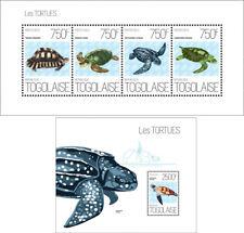 Turtles Schildkröten Reptiles Animals Marine Fauna Togo MNH stamp set