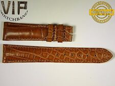 NEW OEM Authentic Longines strap 20 mm Genuine alligator brown color