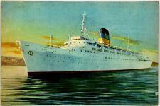 "Cartolina Marina - Transatlantico ""Olympia"" General Steam Navigation Greek Line"