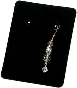 Darice 1893-33 Earring Display Cards, 3.25 by 2.5-Inch, Black Velvet, 30/Pack