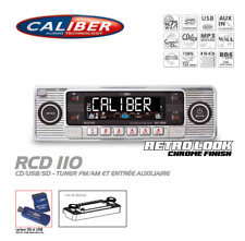 Autoradio Vintage Look Rétro Chromé RCD110 CD/USB/SD Caliber