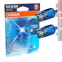 2 Stück Osram 12V Cool Blue Intense Standlicht W5W T10 4000K Glassockel Halogen