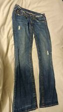 True Religion brand Ripped Jeans made in USA size 26 to fit waist up to 30Rins