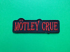 HEAVY METAL PUNK ROCK MUSIC FESTIVAL SEW ON / IRON ON PATCH:- MOTLEY CRUE