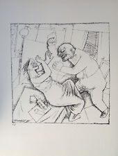 George Grosz eheszene mariage couple dispute colère colère poing agression caricature