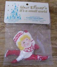 Walt Disney Small World Scandinavian Skater Boy Vintage Ornament Goebel Figural