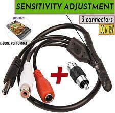 Microphone Security Audio TINY Outdoor Surveillance RCA DVR High Sensitive CCTV