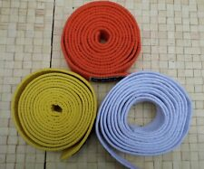 3 x Martial Art Belts Karate JudoTaekwondo White Yellow Orange