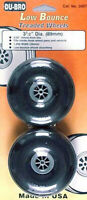 "Dubro 350T Low Bounce Treaded Wheels 3-1/2"" (2)"