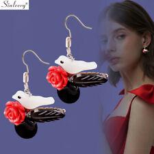 Romantic Natural Shell Flower Bird Drop Dangle Earrings Fashion Handmade Jewelry