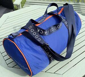 Jack Wills Sport Unisex Medium Style Gym Bag Blue/Orange