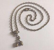 collier 45 cm avec pendentif noisettes 15x10mm couleur bronze
