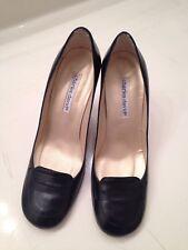 Charles David Women's Shoes 7.5 7-1/2 B Black Leather Cuir Veritable Spain Made