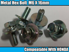10x Metal Hex Bolt With Captive Washer M6 X 16mm & O RING For HONDA / General