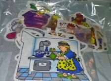 Lot Of 3 Sets Of Judy Instructo Flannelboard Felt Teaching Aid Gingerbread Boy