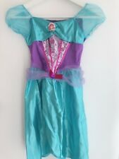 New Girls Kids Children Blue Mermaid Ariel Book Week Costume Dress 4-7 Years