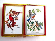 Birds Theme Playing Cards Cardinal Bluebird CONGRESS Double Deck Bridge Vintage