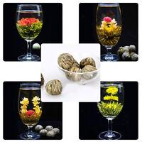 4 Balls Different Handmade Blooming Health Flower Green Tea Family Friends Well
