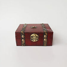 1/6 Scale Wooden Chest Trunk Rustic Style Model Well Made Mini Collectable Box