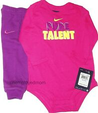 Nike Pants Shirt 2 piece Set Bodysuit Girls Sports Athletic Long Sleeves Outfit