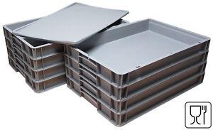 """8x Pizzateigbehälter + 1x Deckel gratis!  Pizzaballenbox 600x400x70mm  """"NEU"""""""