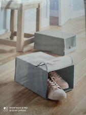 Shoe Box Wardrobe Organiser Storage Febric Grey x 2 pcs