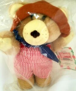 Dudley Furskin Collectible Bear Plush Stuffed Animal 1986 NWT Sealed Wendy's Toy