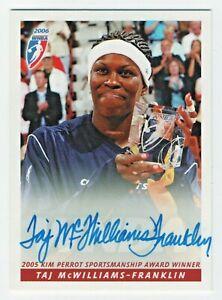 2006 WNBA Autograph #53 Taj McWilliams Award Connecticut Sun