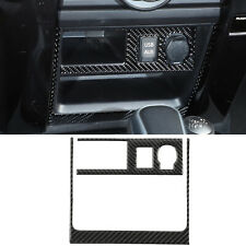 For Toyota 4Runner 2010-2020 Cigarette Lighter Panel Cover Trim Carbon Fiber 2PC