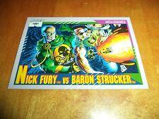 Nick Fury vs. Baron Strucker 111 1991 Marvel Universe Series 2 Impel Base Card