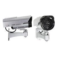 2X Solar Powered Dummy Surveillance Red LED Light Security CCTV Camera A4A1
