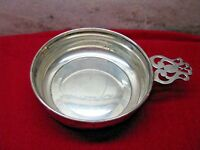 ANTIQ WEBSTER SILVER CO. STERLING PORRINGER #19846-PIERCED HANDLE-BABY FEED BOWL