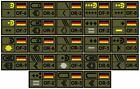 Patch BW Rangabzeichen auf Klett, Heer, alle Dienstgrade mit NATO Rangcode, Oliv