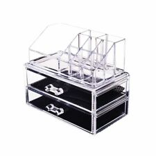 Makeup Holder Transparent Plastic Stack-able Cosmetic Counter-top Storage Box