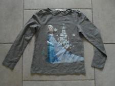 Mädchen - T-Shirt Langarm - Eiskönigin - Elsa & Anna - Gr. 134/140 - H&M