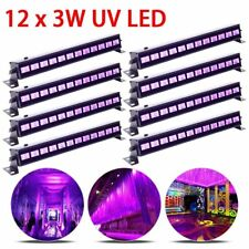 8PC 36W UV Stage Light 12 LED DJ Wall Wash Black Light Effect Disco Party Light