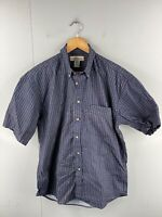Natural Issue Men's Vintage Short Sleeve Casual Geometric Shirt Size M Blue