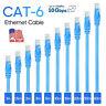 Cat 6 CAT6 Patch Cord Cable Ethernet Internet Network LAN RJ45 Blue LOT F2F0