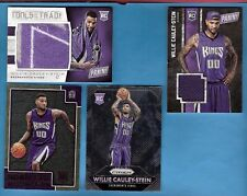 WILLIE CAULEY-STEIN ROOKIE HAT PIECE & TOWEL CARDS + PRIZM RC + HOOPS GOLD RC UK