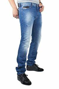 DIESEL THAVAR 0663E WASH Men's Denim Jeans SLIM SKINNY Blue RRP £140