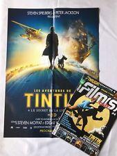 TINTIN ET LE SECRET DE LA LICORNE MAGAZINE FILM CULTE 4 + POSTER / HERGE / BD