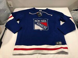 NWT $99.99 Fanatics Mens New York Rangers Breakaway Full Zip Sweatshirt XXL